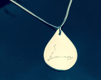 Written in the stars: Pisces. Solid silver constellation necklace
