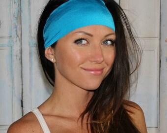 BEST EVER Yoga headband - NonSlip headband - Running Headbands - Neon Blue - Manda Bees No Slip Headband -  CARIBBEAN
