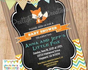 BOY LITTLE FOX invitation - You Print