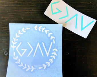 God is Greater than the highs and lows Decal | Car Decal | Sticker | Custom decals | Choose color and style | Christian Decal