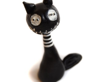 Spooky Cat - Halloween Cat - Black Cat - Made to Order