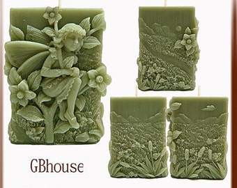 Savannah Fairy of Grasslands 3D Silicone Candle Mold - free shipping