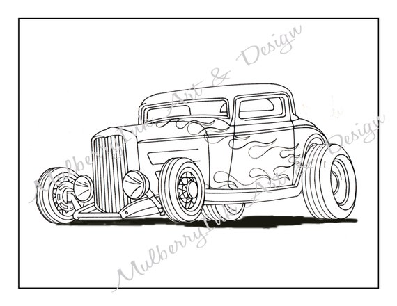 hot rod coloring pages - photo#21