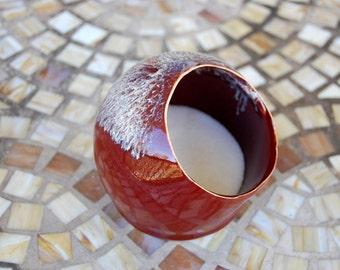 Salt Pig or Salt Cellar In Red Agate - Made to Order