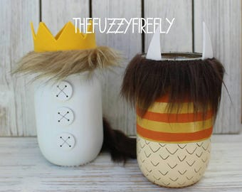 Original Inspired Design Where The Wild Things Are Mason Jars,Where the Wild things are centerpiece,Storybook Centerpiece