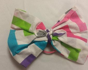 chevron bandana bow