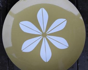 SALE - Vintage Platter, Catherine Holm, Avocado Green, Lotus, Green Lotus, Avocado, Vintage Plate, Catherine Holm, Serving Platter