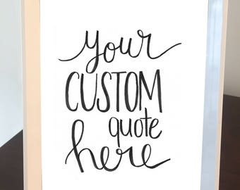 Custom Quote Frame - White Frame with White Background