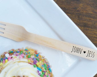 Personalized Wooden Utensils Available in Three Sizes - Custom Names - FREE U. S. SHIPPING