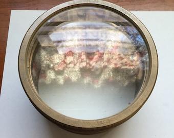 Big vintage double lens in brass HEAVY