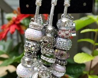 APRIL MAY JUNE Swarovski Birthstone Charm Bracelet, 7.5 inches, 8 inches Birthday, Gift for Her, Mother's Day, Mom, Grandma, Sister