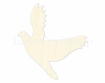 "2"" - 34"" Bird Wooden Cutout Shape, Silhouette, Gift Tags Ornaments Laser Cut Birch Wood  #1012"