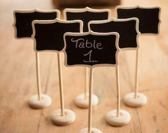 Table Signs Wedding, Table Signs, Mini Rectangle Blackboard, Placecard Holder