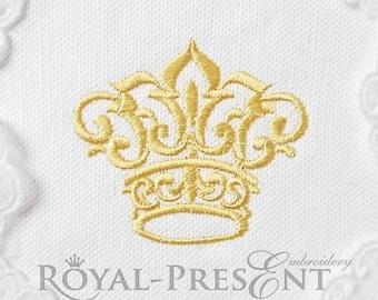 Machine Embroidery Design Small Crown