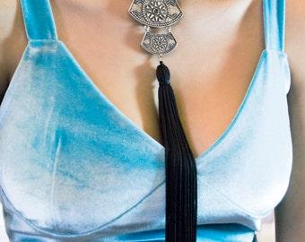Bohemian pendant necklace