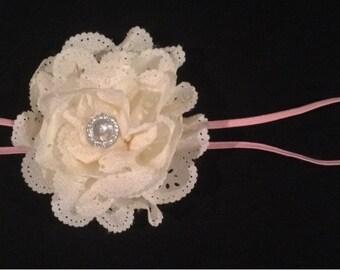 Skinny Flower Headband