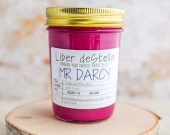 Mr. Darcy - Price and Prejudice Inspired Candle - Book Candle - Book Gift - Book Lover Gift - Bookish Candle