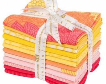 Drawn Sorbet Colorway Fat Quarter, Robert Kaufman, Precut Fabric, Quilt Fabric, Cotton Fabric