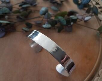 Sterling Silver Cuff Bracelet - Lightly Hammered