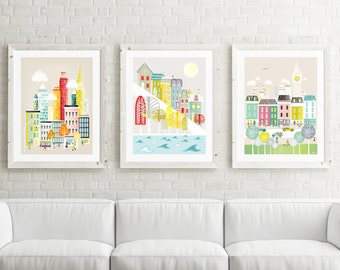 Large Prints Wall Art, Large Prints for Home, Pick ANY 3 images in my shop; LARGER (11x14 / 11x15 / 15x19). New York, Paris, London, Chicago