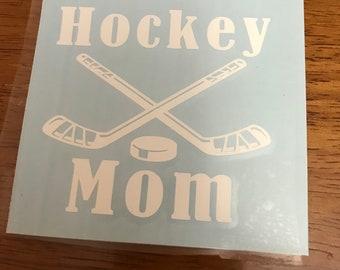 Hockey Mom Car Decal