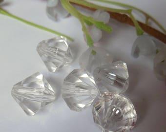 set of 6 plastic beads