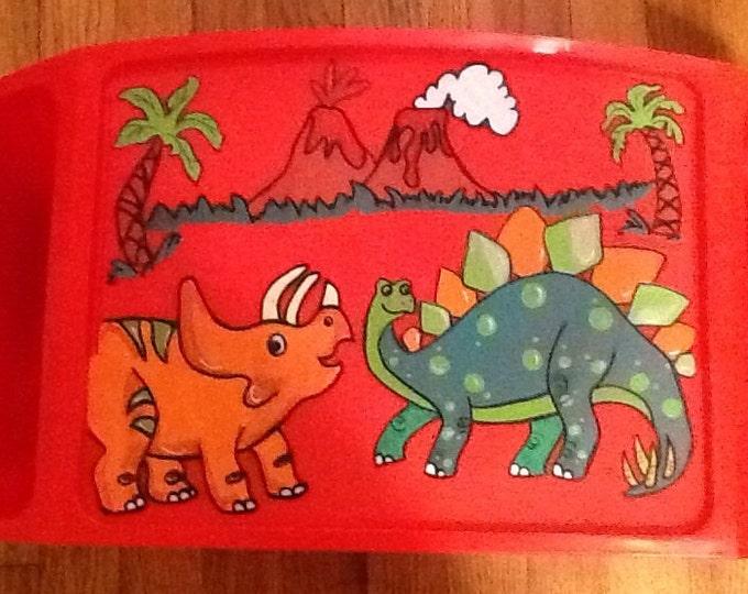 Dinosaur activity lap tray, boys activity tray, boys game tray, boys tv tray, animal game tray, animal tv tray, dinosaur tv tray, dinosaur
