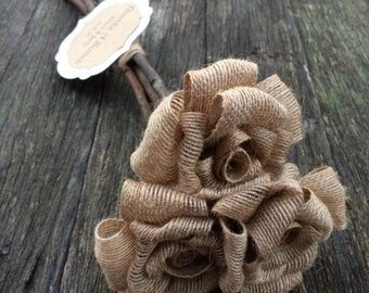Handmade hessian rose bunch! Thank you Bridesmaid gifts... For just an idea ;)
