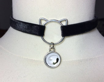 Kitten choker | Kawaii kitten collar | daily pet play choker | Dark Lolita | Pet Play collar | bids fetish | choker collar | cat lover gift