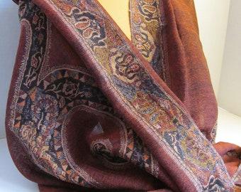 Brown Wool Shawl
