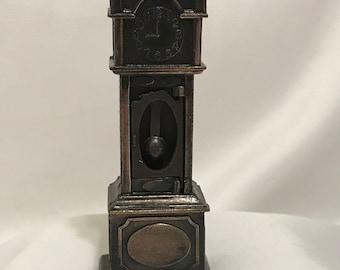 """Dollhouse Miniature 1/2"""" Scale Metal Clock"""