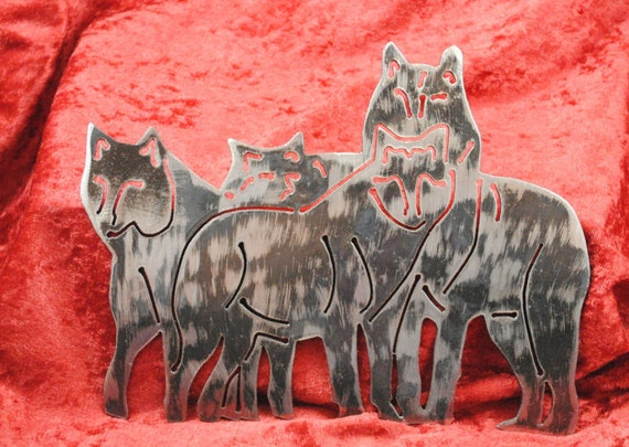 Wolf Pack, Nature, Wall Hanging, Woodland Animal