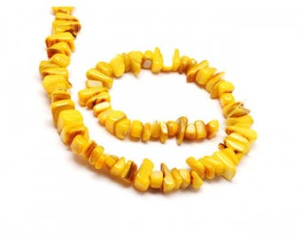 70 color mother of Pearl chips beads yellow