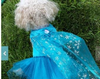 Elsa Dog Costume Pet Dog Cat