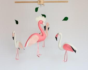 Flamingo baby mobile, modern nursery, cot mobile, crib mobile, hanging mobile, baby shower, nursery decor