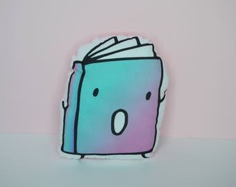 Book Plush - Fiction (Blue to Pink)