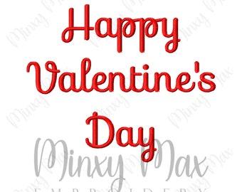 Happy Valentine's Day Machine Embroidery Design 3x3 4x4 5x7 6x10 8x8 INSTANT DOWNLOAD