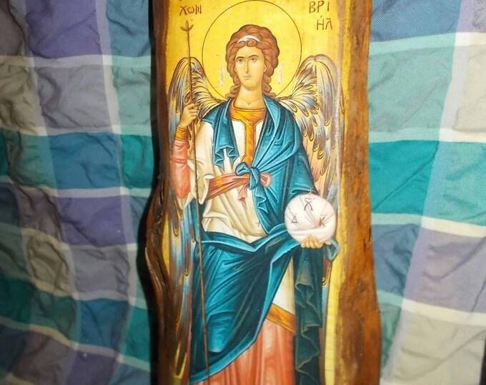 Archangel Gabriel,Custom made Orthodox icon,archangel Gabriel ,Religious icon,Vintage Orthodox icon ,Byzantine icon,st Gabriel icon