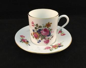 Harleigh China Demitasse Tea Cup and Saucer Fine Bone China England