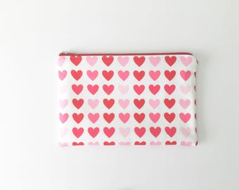 Valentine's Day Heart Zipper Pouch, Heart Zipper Pouch, Pencil Case, Purse Organizer, Cosmetic Bag, Travel Purse, Party Favors