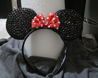 Mouse Ears Headband Bedazzled