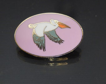 Cloisonne Bird Brooch, Vintage Bird Brooch, cloisonne brooch, vintage cloisonne brooch
