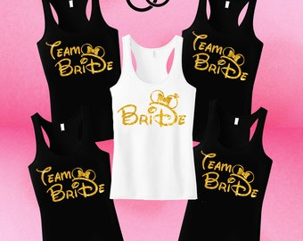 Disney Bride, Bachelorette Party, Bridal shower Shirts, Bride, Minnie Ears Shirt, Team Bride Bridesmaid Disney, Bride Team, Disneyland shirt