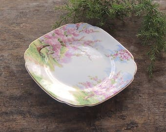Royal Albert Blossom Time Square Bread and Butter Plate Gold Trim, Princess Tea Party, English Cottage, Replacement China