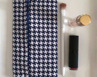 Handmade Cosmetics Bag- Indigo