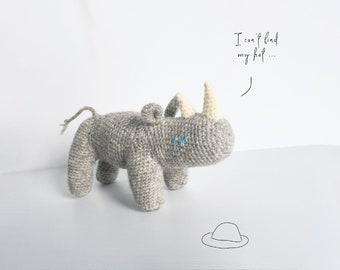 Rhino - handmade toy with attitude