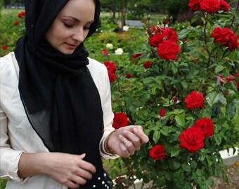 Black Lulu Pearl Hijab