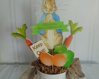 Peter Rabbit double-sided Centerpieces Beatrix  Potter bunny  Easter 1st birthday party decorations baby shower birthday
