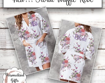 Bridesmaid Robe Personalized Bridesmaids Gifts for Her Monogrammed Robe Monogram Waffle Robe Kimono Robe Personalized Trending Now Wedding