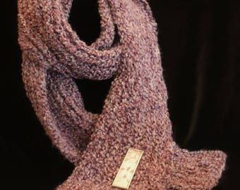 Gilded Time Hand Knit Scarf